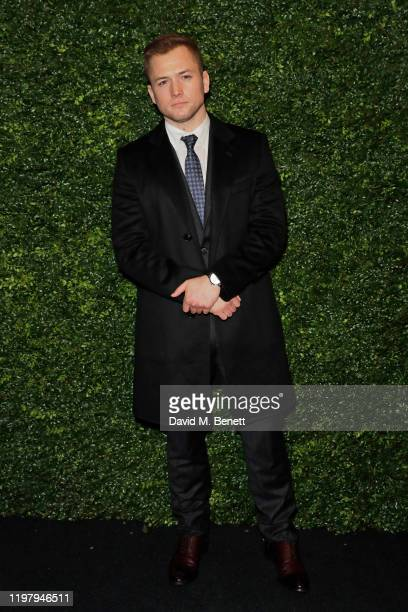 Taron Egerton arrives at the Charles Finch & CHANEL Pre-BAFTA Party at 5 Hertford Street on February 1, 2020 in London, England.