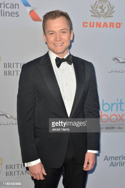 Taron Egerton attends 2019 British Academy Britannia Awards presented by American Airlines and Jaguar Land Rover at The Beverly Hilton Hotel on...