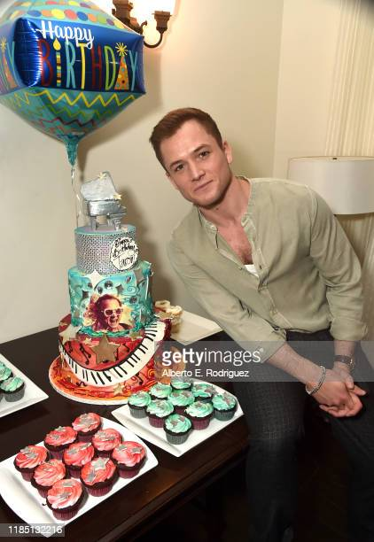 Taron Egerton attends a Cocktail Reception in celebration of Rocketman at the Chateau Marmont on November 02, 2019 in Los Angeles, California.