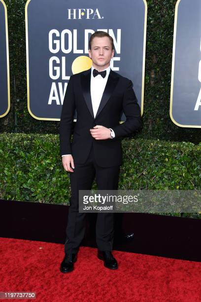 Taron Egerton attends the 77th Annual Golden Globe Awards at The Beverly Hilton Hotel on January 05 2020 in Beverly Hills California