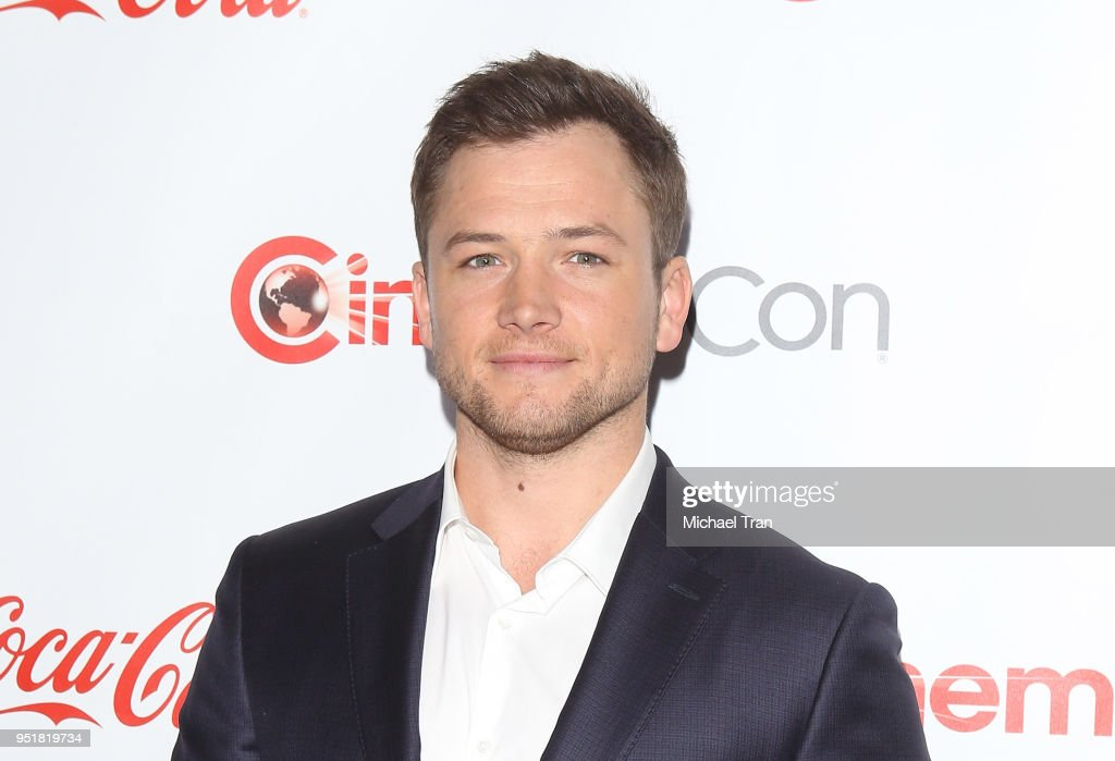 Taron Egerton attends the CinemaCon presents The 2018 Big Screen Achievement Awards held at The Colosseum at Caesars Palace on April 26, 2018 in Las Vegas, Nevada.