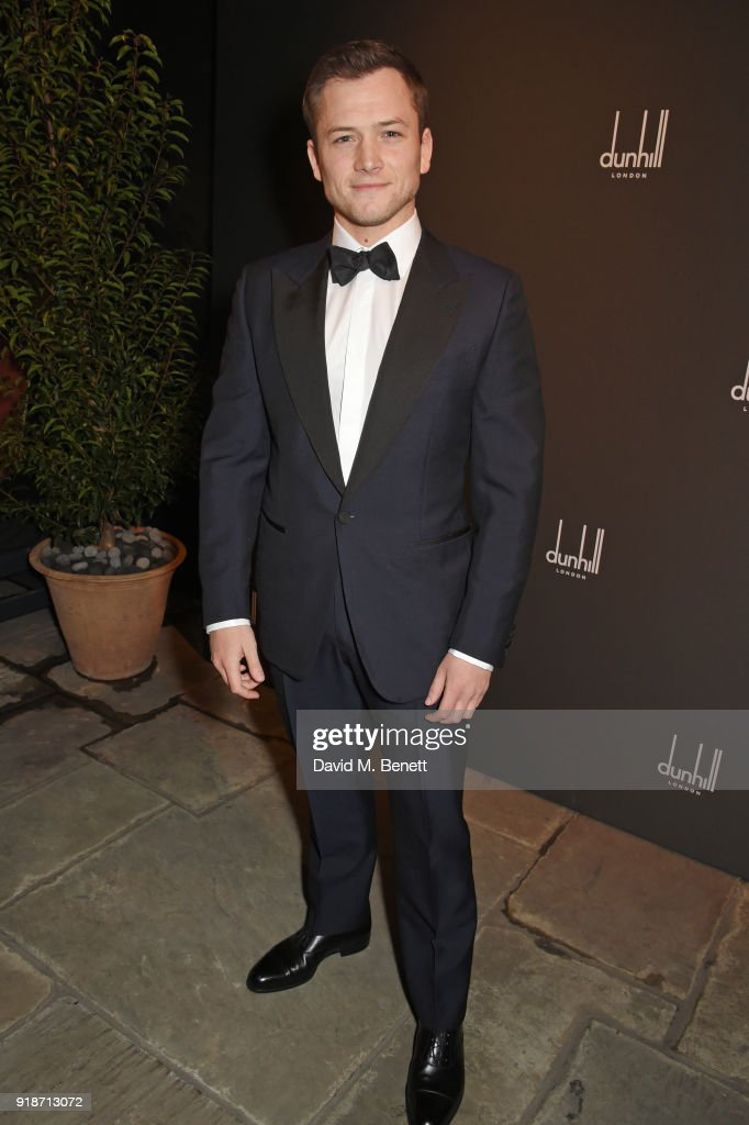 Taron Egerton attends the Dunhill & GQ pre-BAFTA filmmakers dinner and party co-hosted by Andrew Maag & Dylan Jones at Bourdon House on February 15, 2018 in London, England.