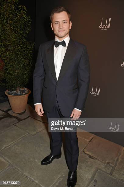 Taron Egerton attends the Dunhill GQ preBAFTA filmmakers dinner and party cohosted by Andrew Maag Dylan Jones at Bourdon House on February 15 2018 in...