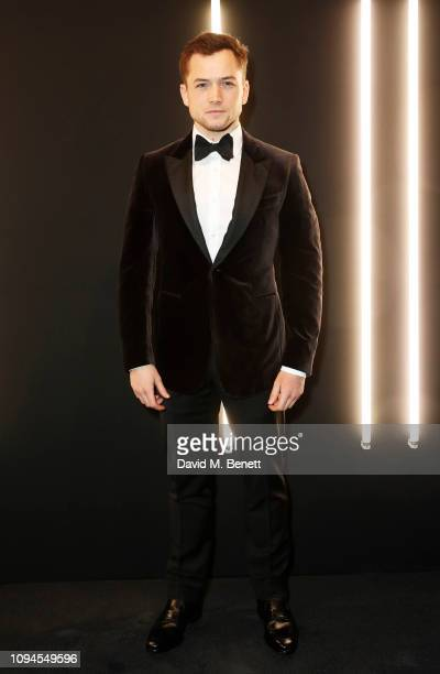 Taron Egerton attends the dunhill PreBAFTA dinner at dunhill Bourdon House on February 6 2019 in London England