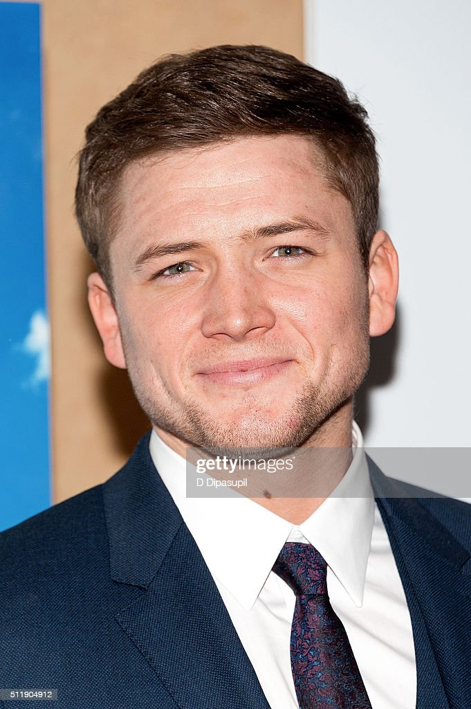 Taron Egerton attends the 'Eddie The Eagle' New York screening at Chelsea Bow Tie Cinemas on February 23, 2016 in New York City.