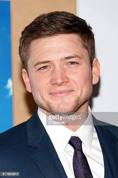 Taron Egerton attends the 'Eddie The Eagle' New York screening at Chelsea Bow Tie Cinemas on February 23 2016 in New York City