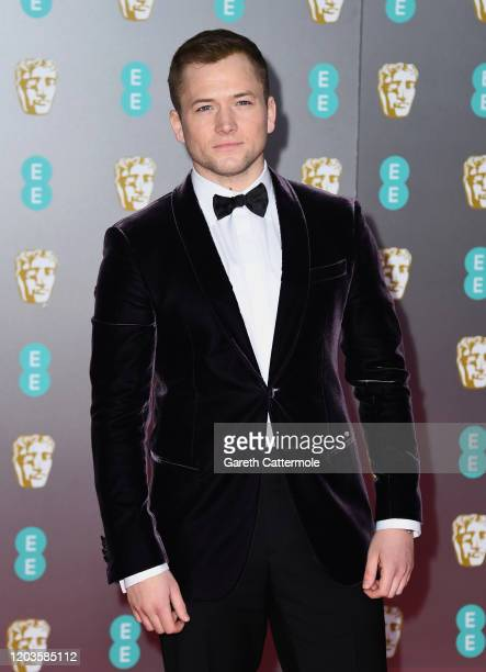 Taron Egerton attends the EE British Academy Film Awards 2020 at Royal Albert Hall on February 02 2020 in London England