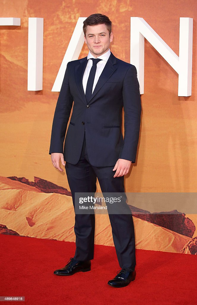 Taron Egerton attends the European premiere of 'The Martian' at Odeon Leicester Square on September 24, 2015 in London, England.