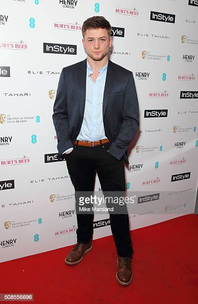 Taron Egerton attends the InStyle EE Rising Star PreBAFTA Party at 100 Wardour Street on February 4 2016 in London England