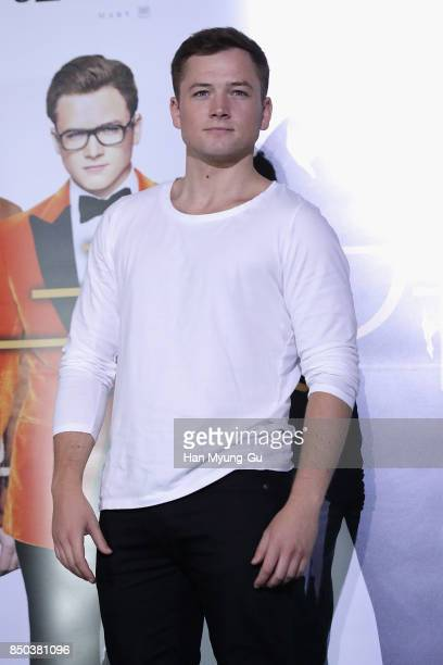 Taron Egerton attends the 'Kingsman The Golden Circle' press conference at Yongsan CGV on September 21 2017 in Seoul South Korea