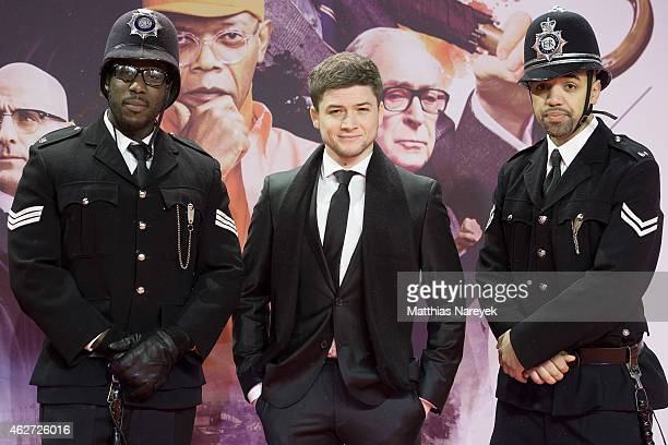 Taron Egerton attends the `Kingsman The Secret Service' German Premiere at CineStar on February 3 2015 in Berlin Germany
