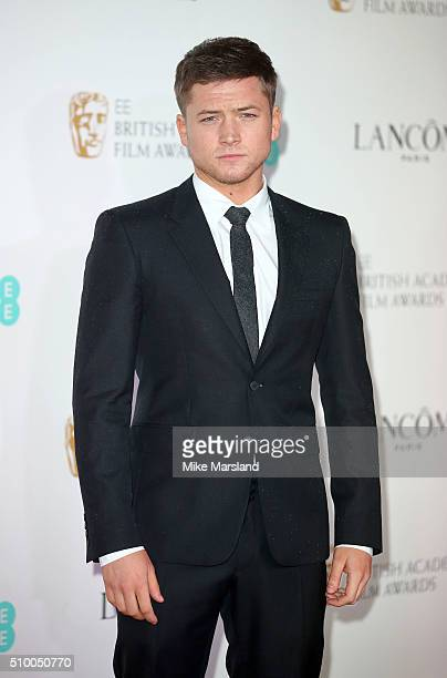 Taron Egerton attends the Lancome BAFTA nominees party at Kensington Palace on February 13 2016 in London England