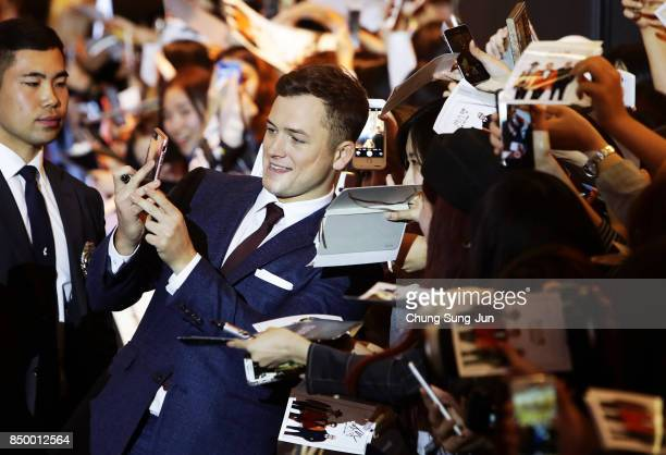 Taron Egerton attends the red carpet of the 'Kingsman The Golden Circle' Seoul Premiere on September 20 2017 in Seoul South Korea