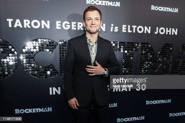 Taron Egerton attends the Rocketman Australian premiere on May 25 2019 in Sydney Australia