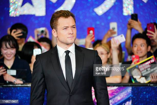 Taron Egerton attends the Rocketman Japan Premiere at TOHO Cinemas Hibiya on August 15 2019 in Tokyo Japan