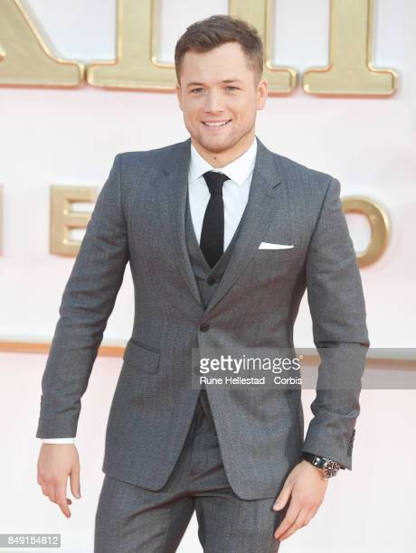 Taron Egerton attends the UK premiere of 'Kingsman The Golden Circle' at Odeon Leicester Square on September 18 2017 in London England