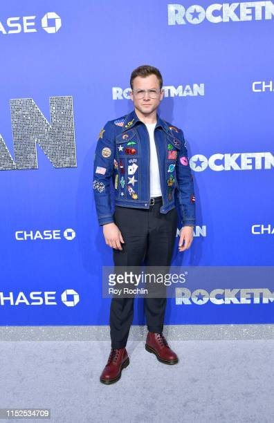 Taron Egerton attends the US Premiere of Rocketman at Alice Tully Hall on May 29 2019 in New York New York