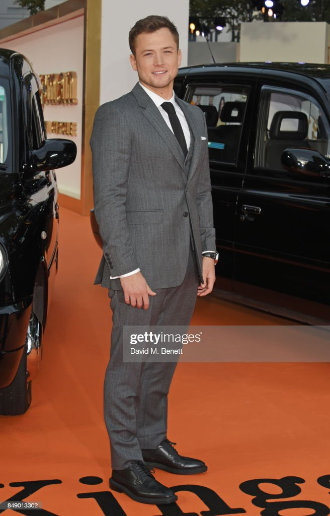 Taron Egerton attends the World Premiere of 'Kingsman: The Golden Circle' at Odeon Leicester Square on September 18, 2017 in London, England.