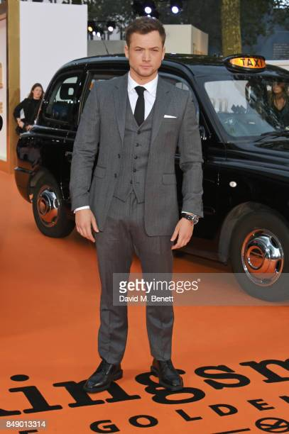 Taron Egerton attends the World Premiere of 'Kingsman The Golden Circle' at Odeon Leicester Square on September 18 2017 in London England