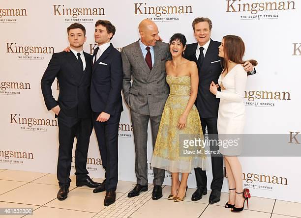 Sophie Cookson Taron Egerton Bring Kingsman The Secret: Edward Holcroft Foto E Immagini Stock