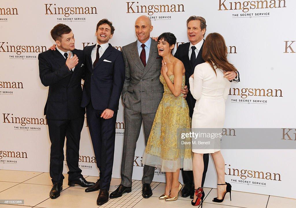 Colin Firth Taron Egerton Sophie Cookson About Kingsman: Taron Egerton, Edward Holcroft, Mark Strong, Sofia