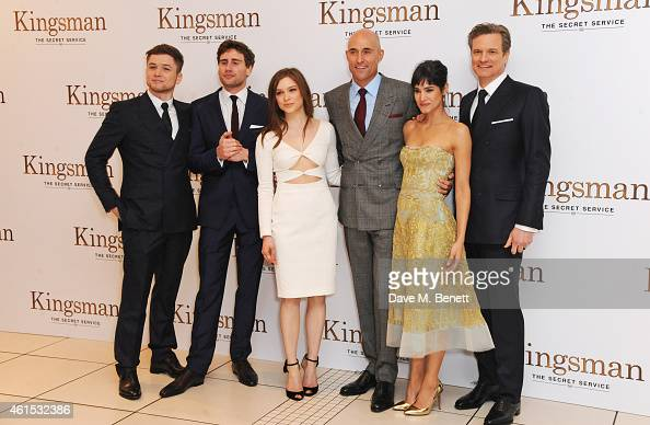 Exclusive Colin Firth Taron Egerton And Sophie Cookson: Taron Egerton, Edward Holcroft, Sophie Cookson, Mark