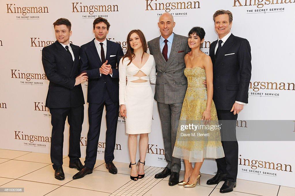 Sophie Cookson Taron Egerton Bring Kingsman The Secret: Taron Egerton, Edward Holcroft, Sophie Cookson, Mark