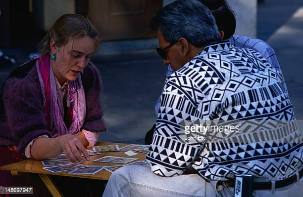 Tarot and palm reader in the French Quarter, 'Vieux Carre', New Orleans