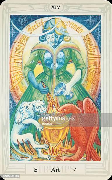 tarot card - art - theasis stock pictures, royalty-free photos & images