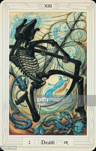 tarot card - death - theasis stock pictures, royalty-free photos & images