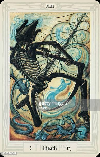 tarjeta tarot de muerte - aleister crowley fotografías e imágenes de stock