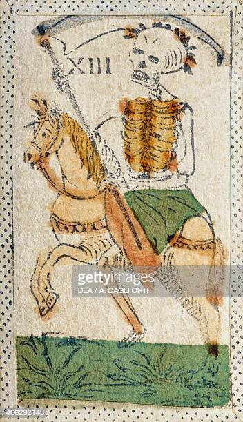 Tarot card depicting Death Italy 16th century