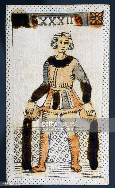 Tarot card for Aquarius Italy 16th century