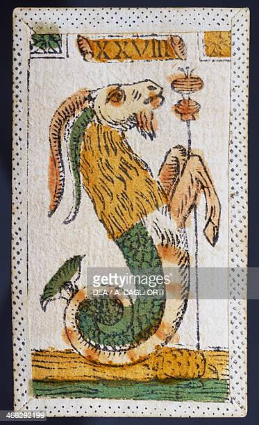 Tarot card for Capricorn Italy 16th century
