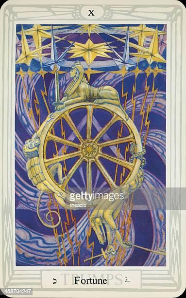 tarjeta tarot de fortune - aleister crowley fotografías e imágenes de stock