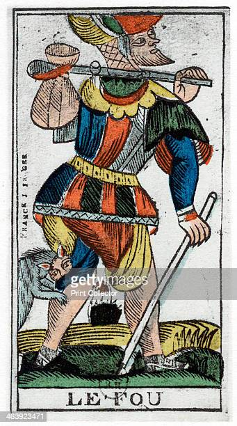 Tarot card of the Fool Jergot Tarot 17th century A tarot pack of 22 cards was used in fortune telling