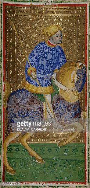 Tarot depicting the jack of spades from the BreraBrambilla deck workshop of Bonifacio Bembo Italy 15th century Milan Pinacoteca Di Brera