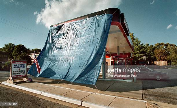 Tarp Simplified >> Us Sniper Gas Station Tarp Stock Photos and Pictures   Getty Images