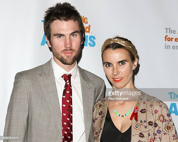 Tarquin Wilding and Naomi deLuce Wilding attend the Actors Fund's 2016 Looking Ahead awards at Taglyan Complex on December 6 2016 in Los Angeles...