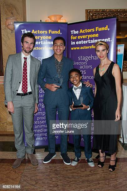 Tarquin Wilding Marcus Scribner Miles Brown and Naomi Wilding attend the Actors Fund's 2016 Looking Ahead Awards at the Taglyan Complex on December 6...