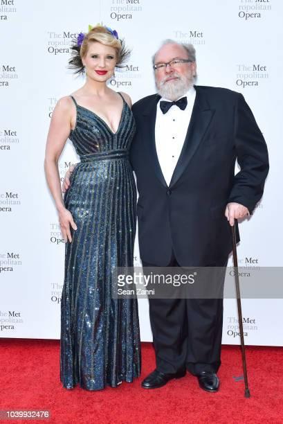 Tarra Bandet and Richard Massey attend The Metropolitan Opera Opening Night Gala SaintSaens' 'Samson et Dalila' at Lincoln Center on September 24...