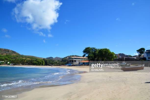 tarrafal beach cabo verde santiago - cabo verde fotografías e imágenes de stock
