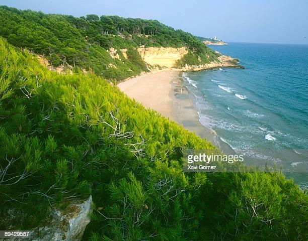 tarragona. catalonia (spain). waikiki beach. - tarragona stock photos and pictures