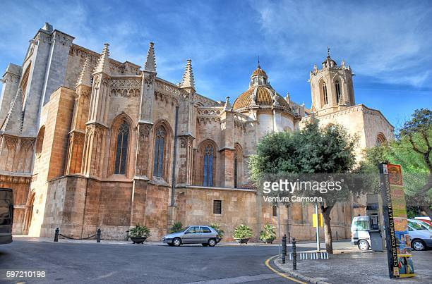 tarragona cathedral (spain) - tarragona stock photos and pictures