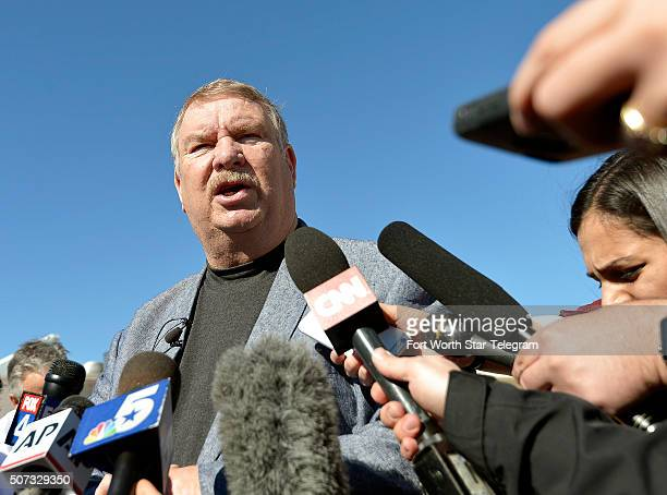 Tarrant County Sheriff Dee Anderson talks to the media after Ethan Couch returned to North Texas at the Scott D Moore Juvenile Justice Center on Jan...