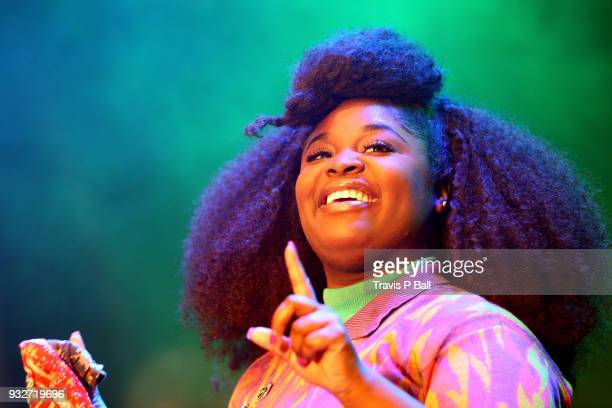 Tarriona Ball of Tank and the Bangas performs onstage at Pandora during SXSW at Stubb's BarBQ on March 15 2018 in Austin Texas