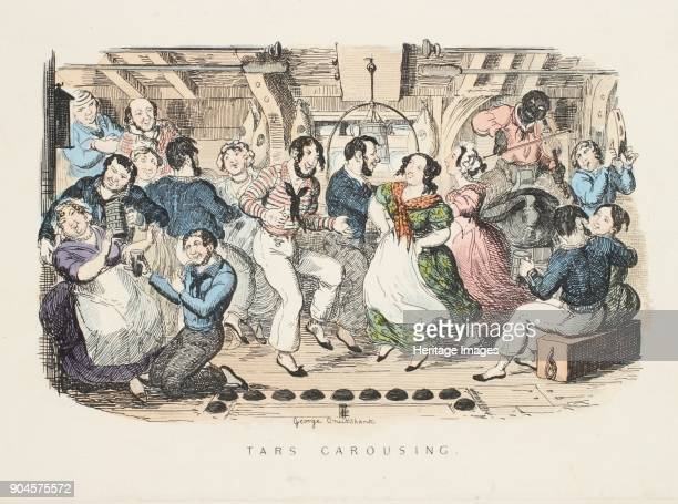 Tars Carousing from Songs Naval and National Of the Late Charles Dibdin pub 1841