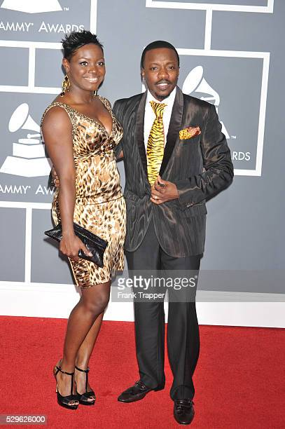 Tarsha McMillan and Anthony Hamilton arrive at the 51st GRAMMY�� Awards held at the Staples Center in Los Angeles