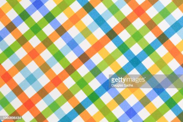 tartan pattern in bright colors - tartan stock pictures, royalty-free photos & images
