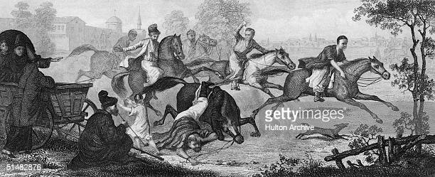 Tartars abusing the Russian peasantry circa 1300
